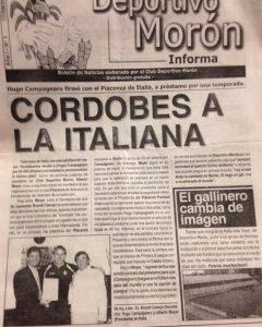 El boletín informativo que repartía el club en el 2003.